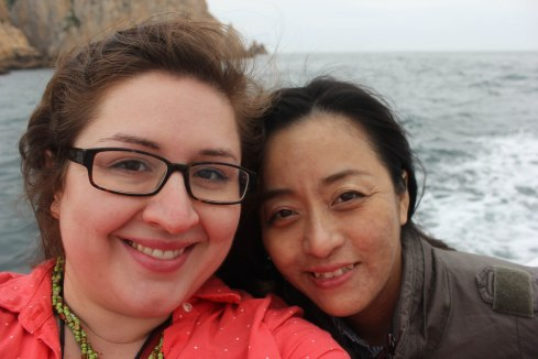 On a boat in Namhae