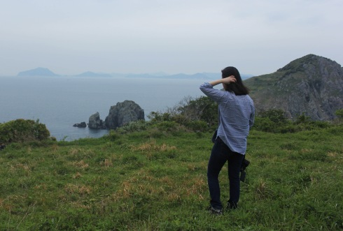 Jin-Ah on an island in Namhae