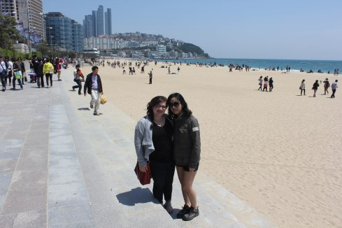 At Haeundae Beach in Busan