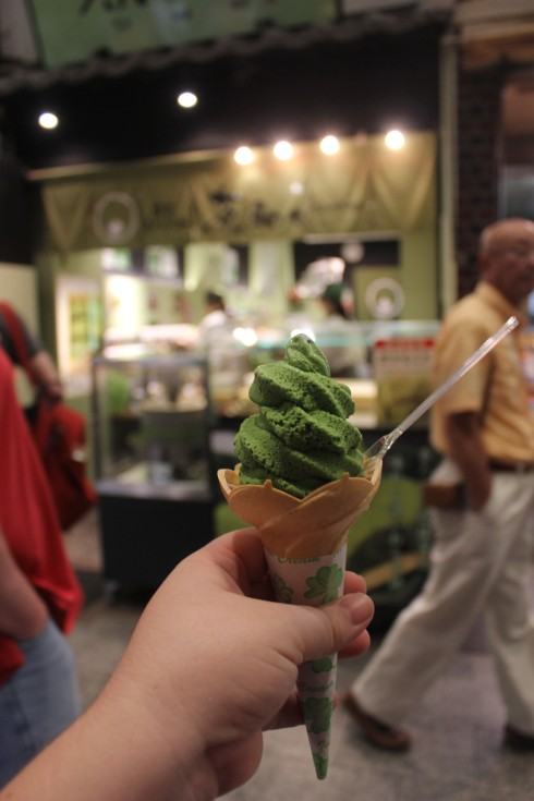 Green tea ice cream is my current food obsession.